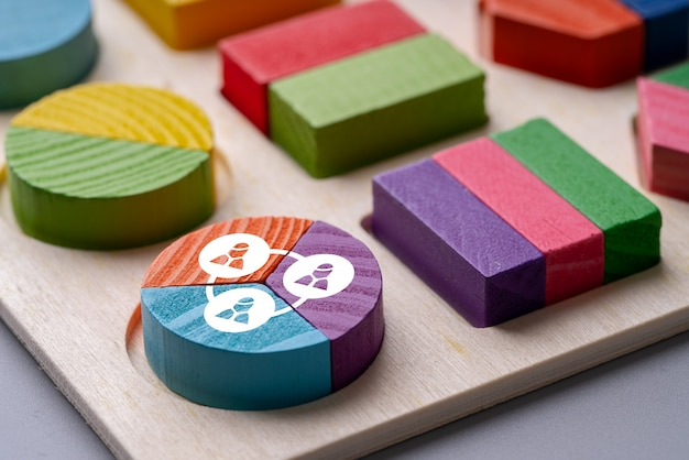 Business & hr colorful pie chart puzzle