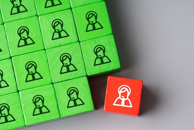 Business & hr global puzzle concept for leadership and team
