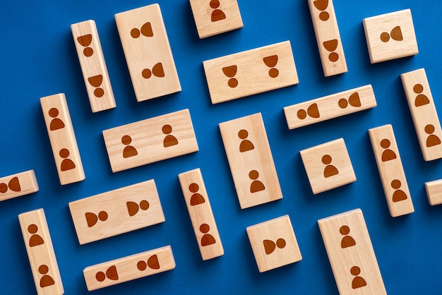 Business & hr icon on colorful jigsaw puzzle