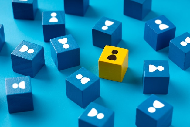 Business & hr puzzle colorful cube