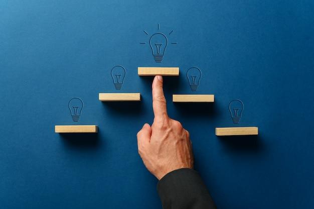 Business idea and progress concept