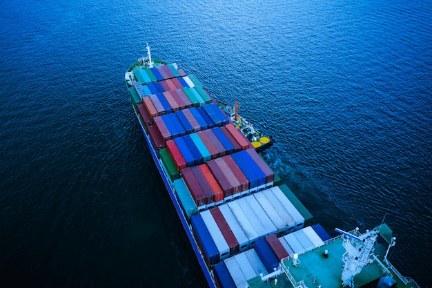 Business and industry shipping and service delivery cargo containers international