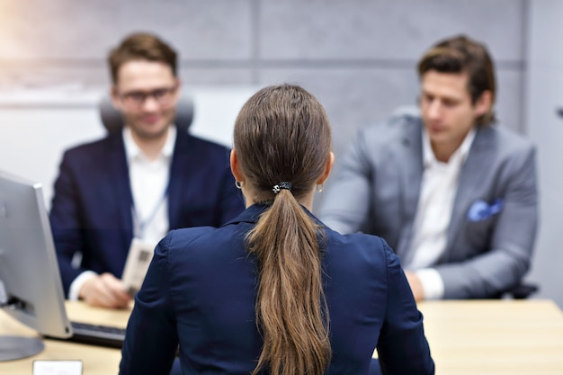 Business interview in modern office
