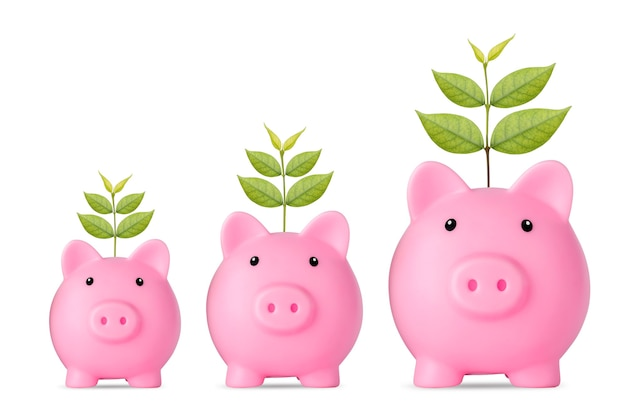 Business investment and saving growth for advertising concept
