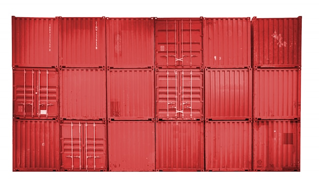 Business and logistics. cargo transportation and storage. equipment containers shipping.