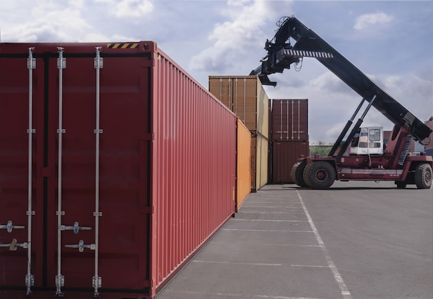 Business logistics concept of container cargo