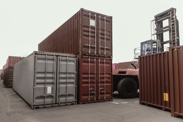 ビジネス物流のコンセプトは、コンテナ貨物貨物船のグローバルパートナー接続をマップ