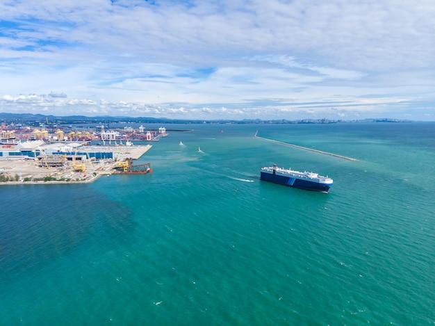 Business logistics international shipping on the sea