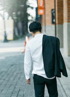 Business man in distress of job