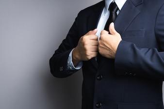 Business man dressing up