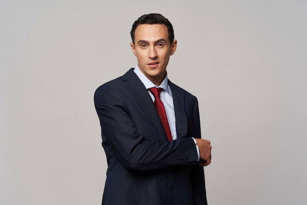 Business man in elegant suit