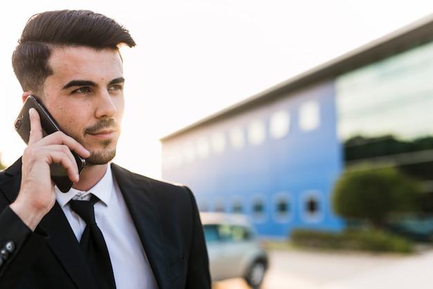 Business man on phone