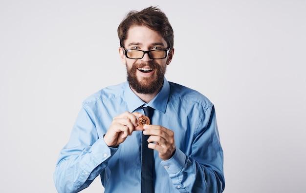 넥타이 bitcoin cryptocurrency 금융 가상 비즈니스 남자 셔츠