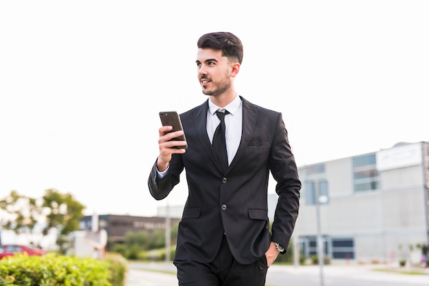 Business man using his phone