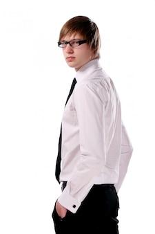 若くて魅力的なビジネスの男性