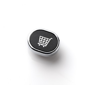 Business, marketing & online shopping strategy concept icon on the computer keyboard