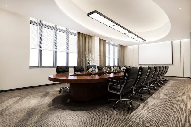 ビジネスミーティングとオフィスビルの作業室