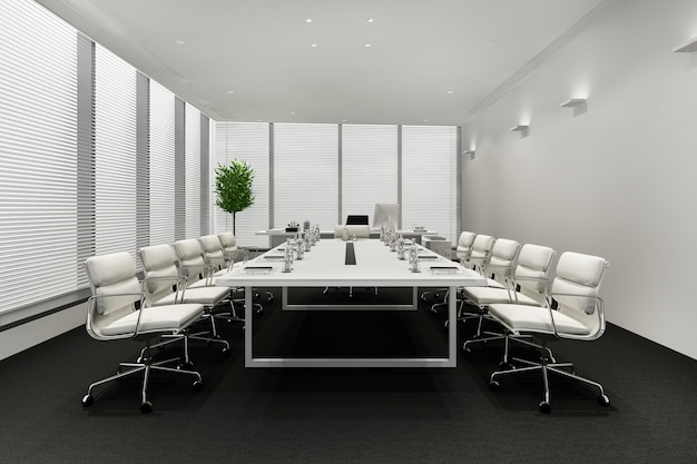 Business meeting room on high rise office building
