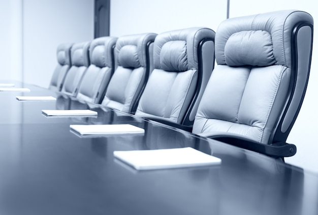 Business meeting room with elegant seats
