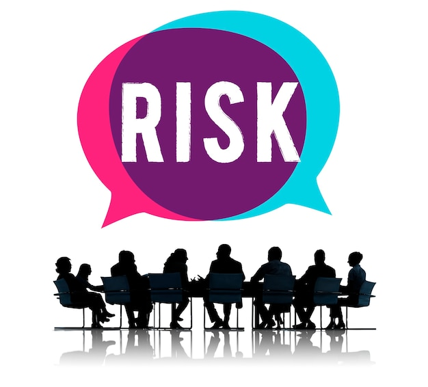 Business meeting talking about risk