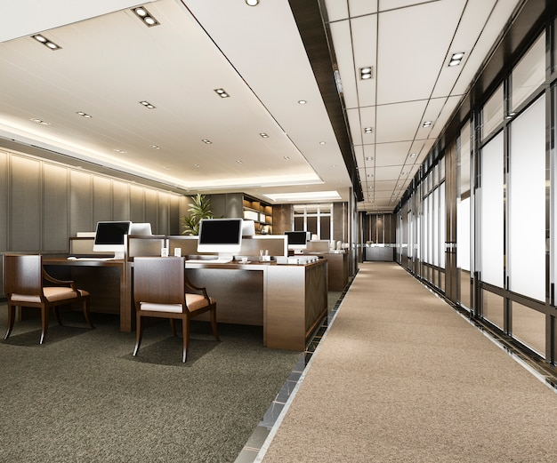 Business meeting and working room on office building