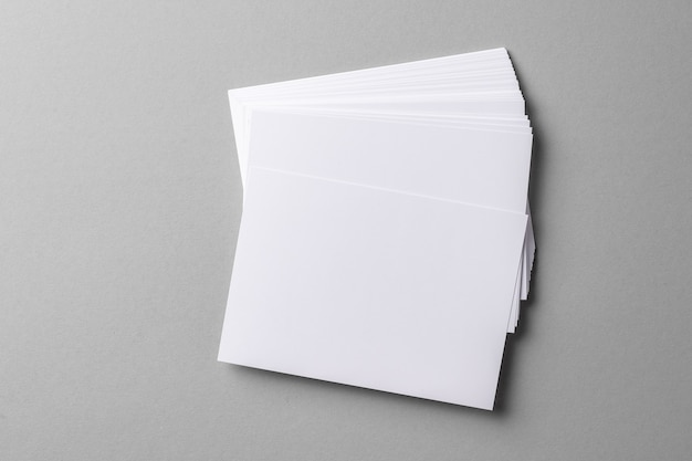 Business mock up cards with copy space on grey