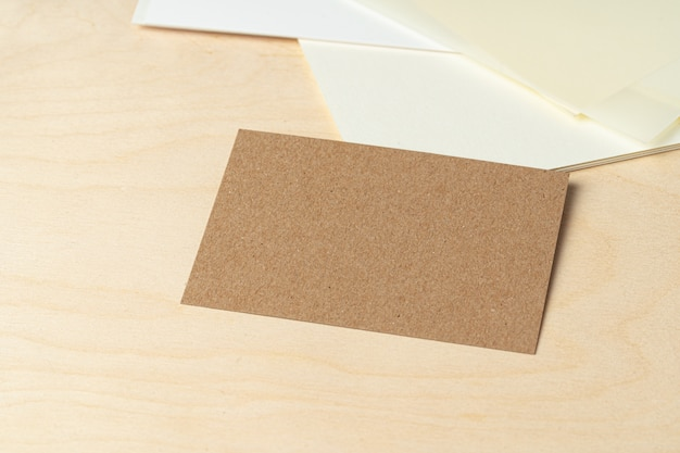 Бизнес макет визиток, крупный план