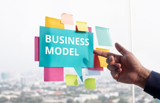 Business model or plan concepts.startup project.management and development