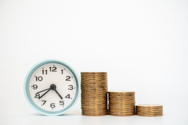 Business, money and saving and time concept