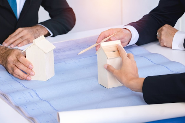 Business negotiation and teamwork