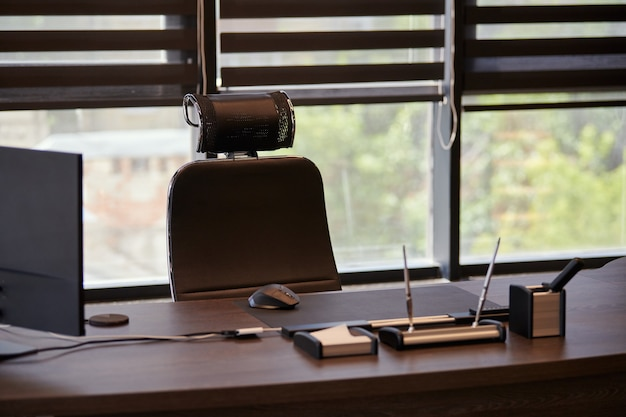 Рабочее место в бизнес-офисе