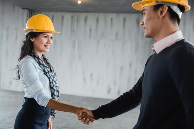 握手のビジネスパートナー