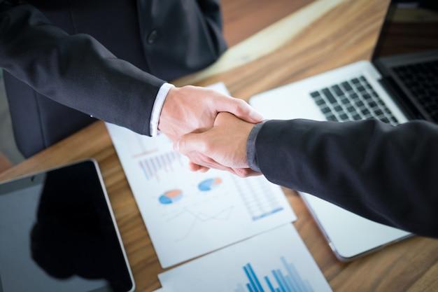 Business partnership meeting concept.