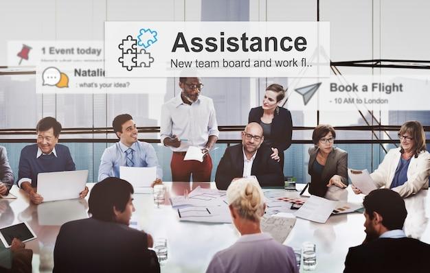 Business people corporate meeting presentation communication diversity concept