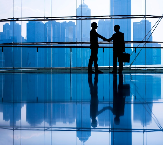 Business people making agreement.