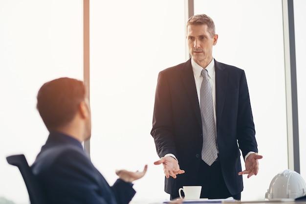비즈니스 사람들 회의 회의 토론 기업 개념