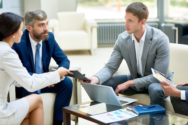 Business people planning work
