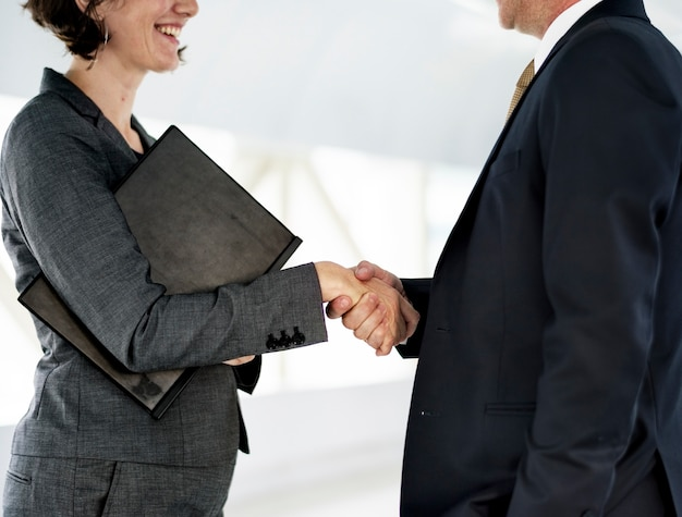 Business people shake hand collaboration deal