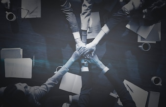 Работа в команде деловых людей