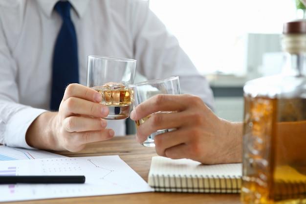 Business people toasting