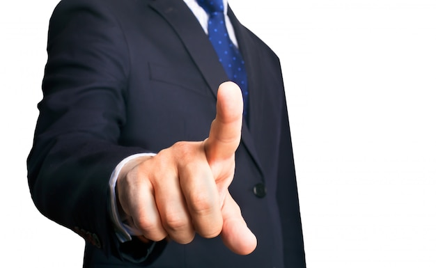 Business person and his finger