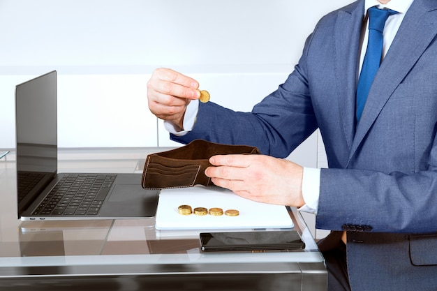 財布とコインの事業者