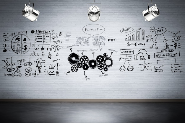 ステージ上で発表する事業計画