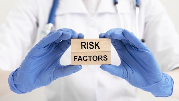 ビジネスリスク要因、碑文、概念医療リスク