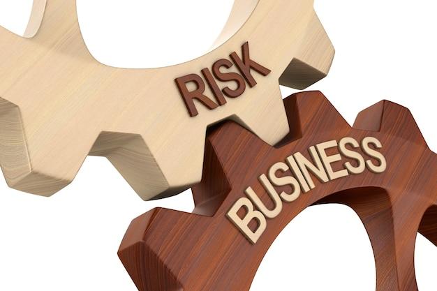 Business risk on white.