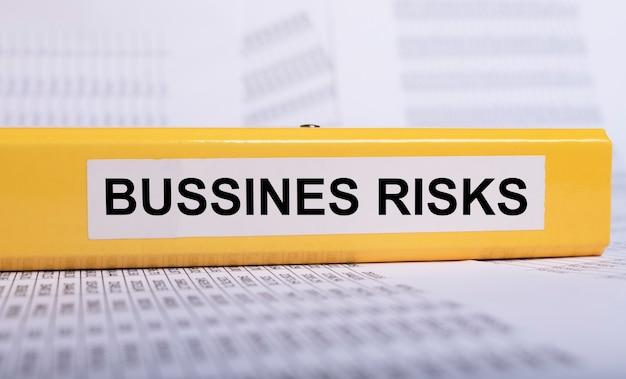 Business risks inscription words