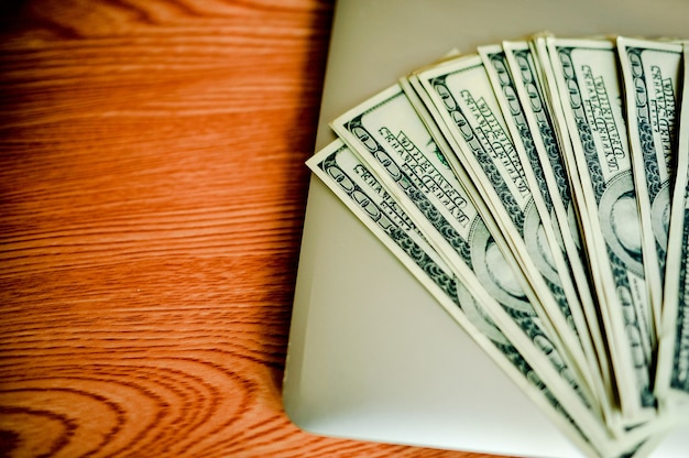 Business savings, property stairs, or mortgage concepts: home, dollar, american dollar, no