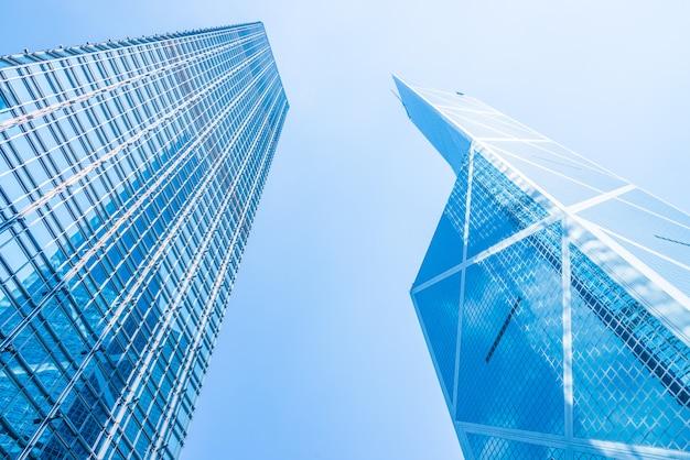 香港のビジネス高層ビル建物