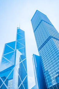 홍콩에서 비즈니스 마천루 건물