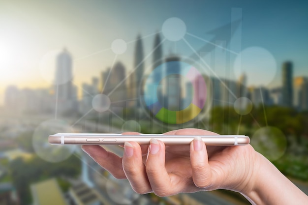 Бизнес-концепция для роста и успеха с использованием ваших технологий.